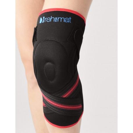 Stabilizator kolana z silikonowym wzmocnieniem rzepki