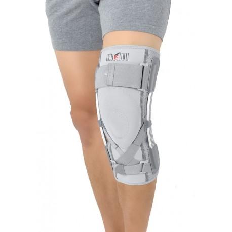 Sportowa lekka orteza stawu kolanowego z szynami elastycznymi i stabilizatorem ACL
